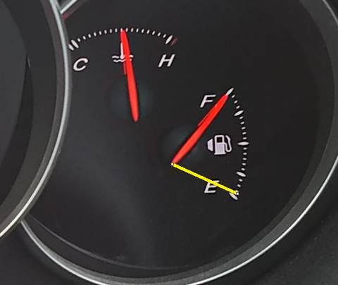 ガソリンもう少ないよ!