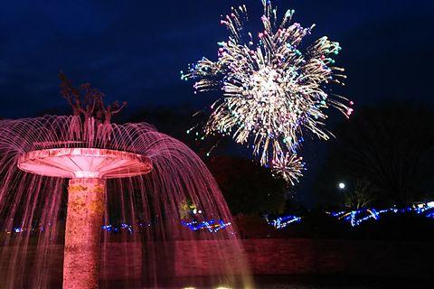 噴水と花火