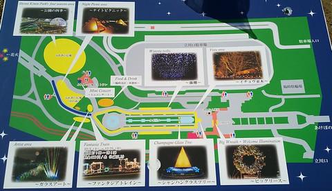 イルミネーション会場マップ