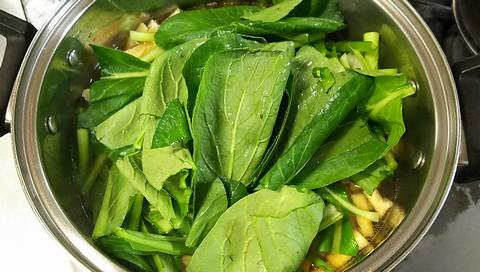 お雑煮の小松菜