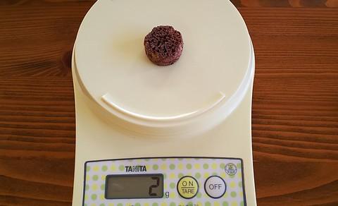 サクサク食感、重さは2グラム