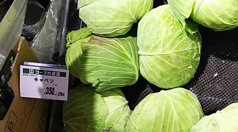 キャベツ1個350円(税抜き)