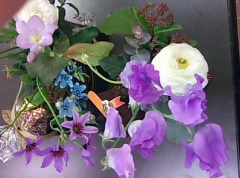 花束のホワイトデー