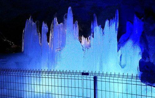 自然のブルー風穴