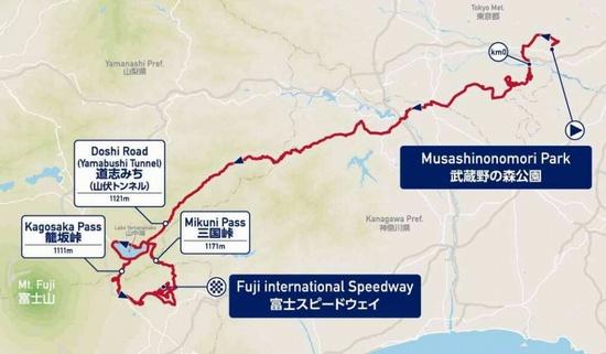 オリンピックロードレースマップ