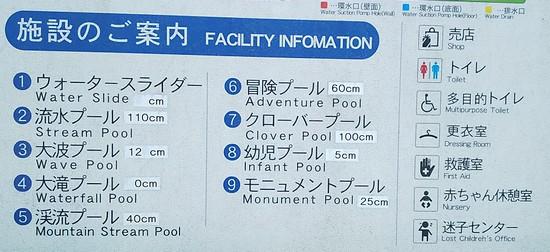 プールの案内板
