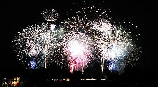 昭和記念公園 冬の花火