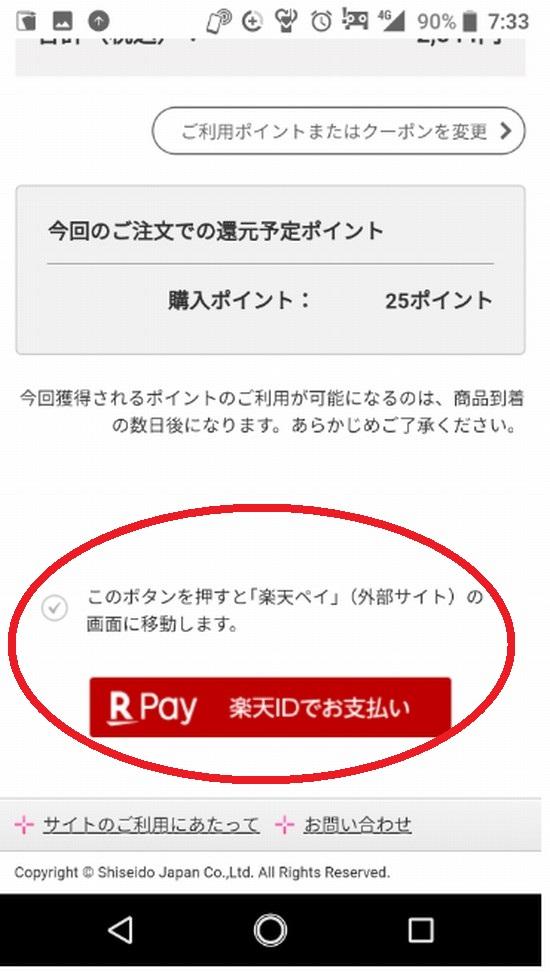 楽天PayでOK!