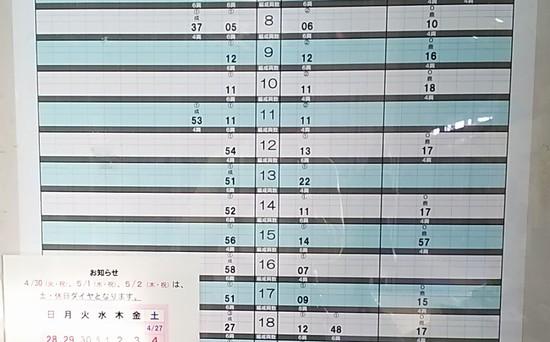 佐原の時刻表2