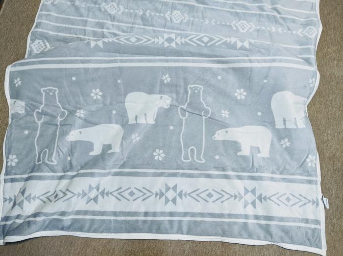 ニトリ毛布暖かい白クマさん
