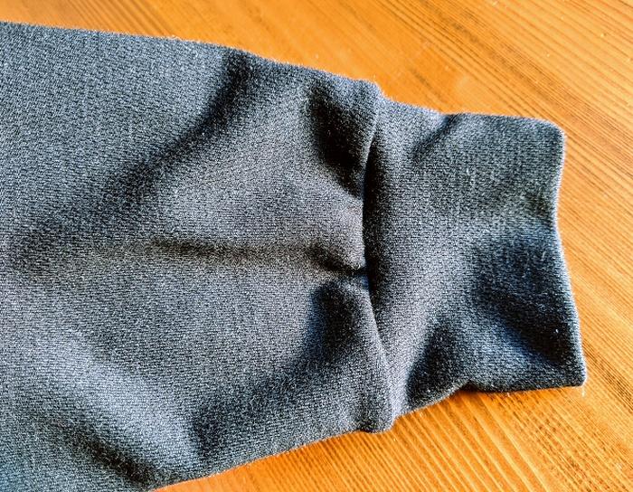 超極暖の袖