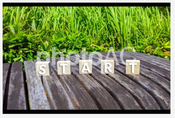 startのロゴ写真