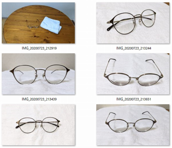 眼鏡とタオルの写真